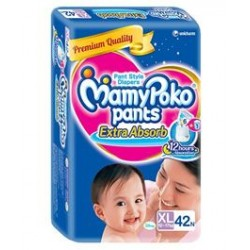 Mamy Poko Extra Absorb Pant Style Diapers Extra Large - 42 Pieces