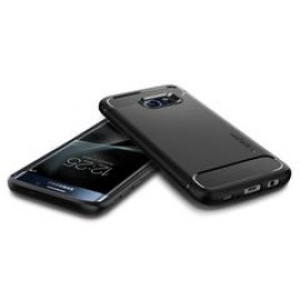 Spigen Galaxy S7 Edge Case Rugged Armor Black 556CS20033