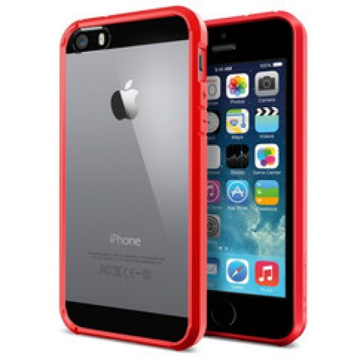 pretty nice 9616d c870b SPIGEN iPhone 5S/5/SE Case Bumper Ultra Hybrid Black - SGP10515