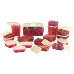 MasterCook 17 Pieces Pink - 200 ml, 330 ml, 1630 ml, 150 ml, 500 ml, 700 ml Polypropylene Food Storage
