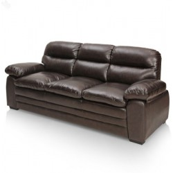 Branded Leather 3 Seater Sofa
